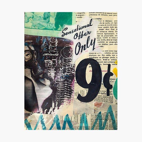 Worn street posters| Graffiti wall | Pop art | Street-art aesthetics Photographic Print