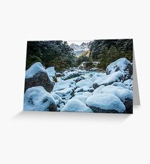 Ice on the Rocks Greeting Card