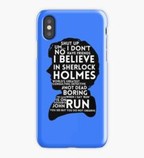 BBC Sherlock Holmes Quotes iPhone Case/Skin