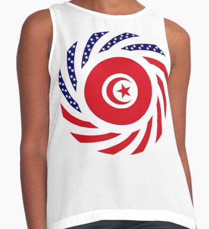 Tunisian American Multinational Patriot Flag Series Sleeveless Top