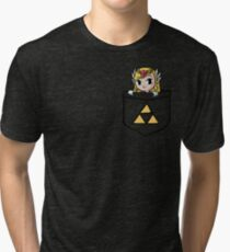 Legend Of Zelda - Pocket Zelda Tri-blend T-Shirt