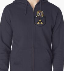Legend Of Zelda - Pocket Zelda Zipped Hoodie