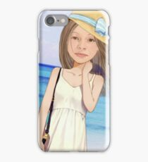 Painted girl, animation, women iPhone Case/Skin