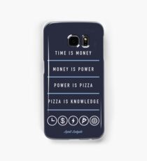 Power Is Pizza- April Ludgate Samsung Galaxy Case/Skin