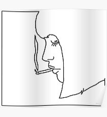 girl smoking a cigarette Poster