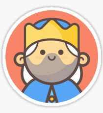 Mini Characters - Old King Sticker