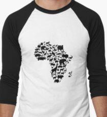 Tiere von Afrika Baseballshirt für Männer