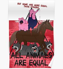 Some are More Equal than Others || Animal Farm  Poster