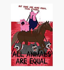 Some are More Equal than Others || Animal Farm  Photographic Print