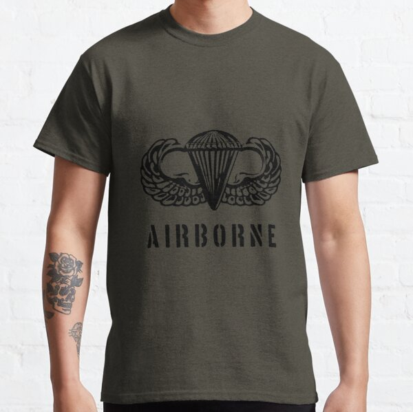US airborne parawings - black Classic T-Shirt