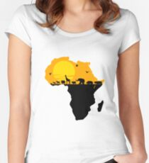 Africa Fitted Scoop T-Shirt