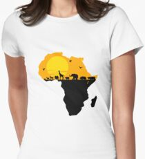Africa Women's Fitted T-Shirt