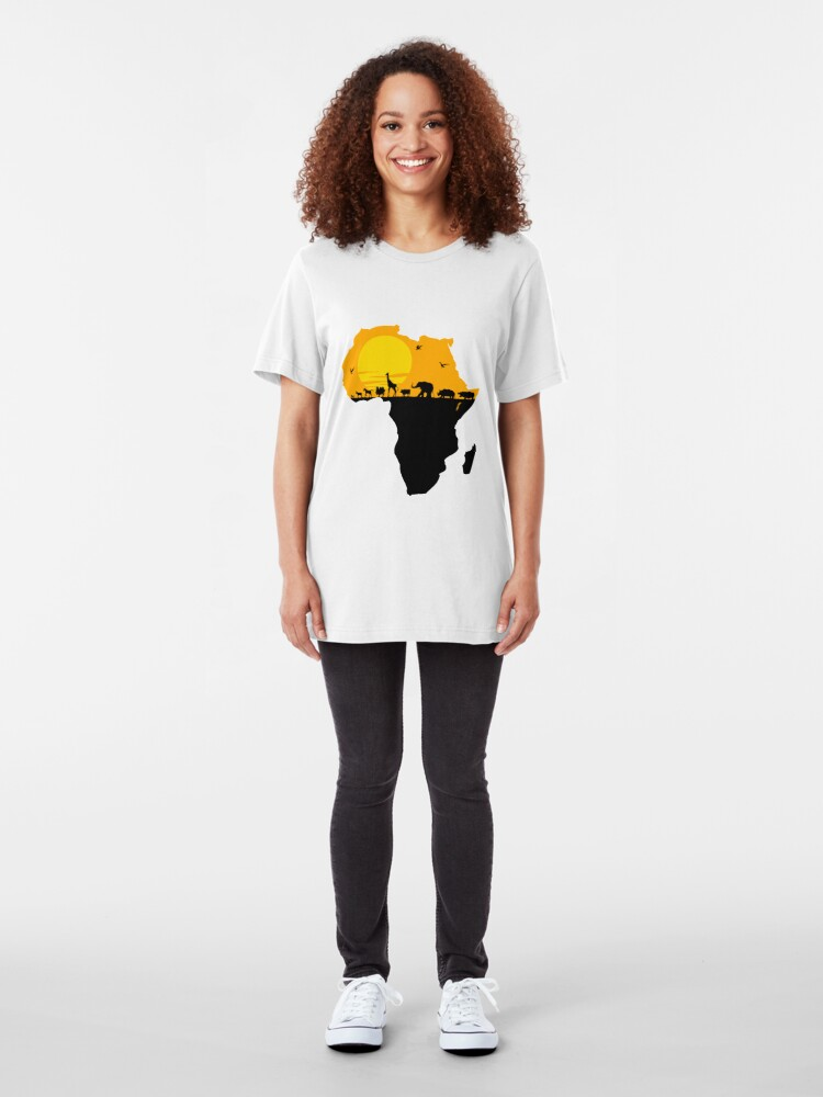 Alternate view of Africa Slim Fit T-Shirt