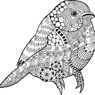 Hand drawn doodle sparrow. by palomita222
