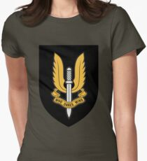 Special Air Service (Gold - Black Shield) Womens Fitted T-Shirt