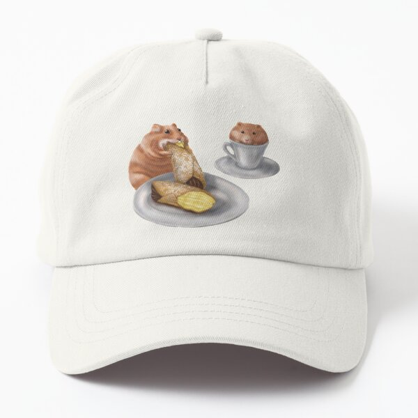 Hamsters Eating Cannoli Dad Hat