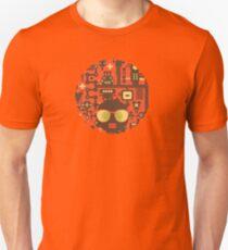 Robots red Unisex T-Shirt