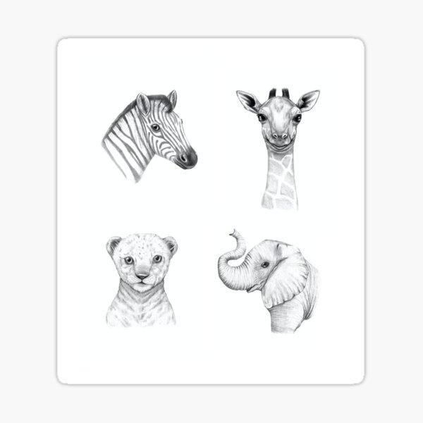 Safari Animal Set Sticker