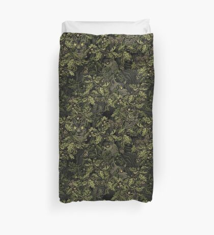 Fit In (olive green) Duvet Cover