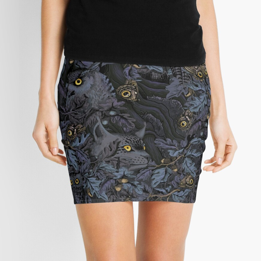 Fit In (moonlight blue) Mini Skirt