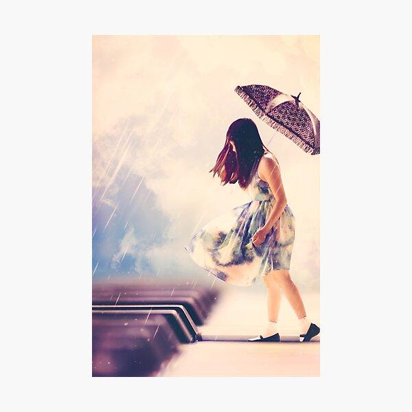The Rain Murmurs Music Photographic Print
