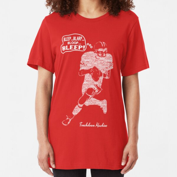 Funny Football: Touchdown Machine -  white Slim Fit T-Shirt