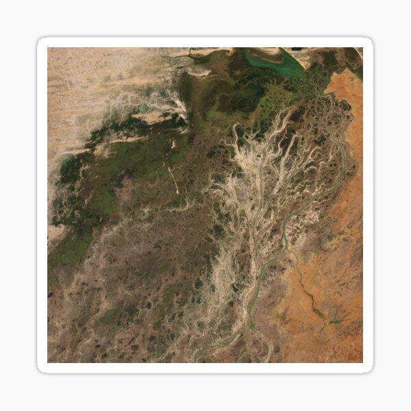 Niger River Inland Delta Mali Africa Satellite Image Sticker