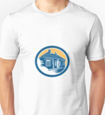 Medieval House Building in Bath Retro T-Shirt