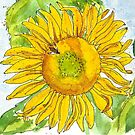 CHERYL'S SUNFLOWER by dkatiepowellart