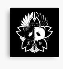 Panda Paw Paw Sakura T-Shirt Design (White) Canvas Print