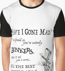 Alice in Wonderland Quote Graphic T-Shirt