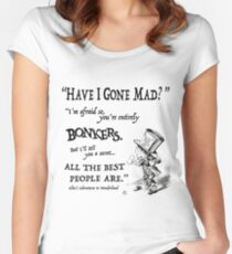 Alice in Wonderland Quote Women's Fitted Scoop T-Shirt