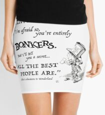 Alice in Wonderland Quote Mini Skirt