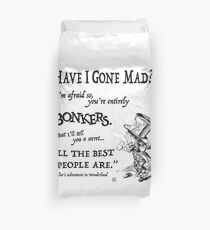 Alice in Wonderland Quote Duvet Cover