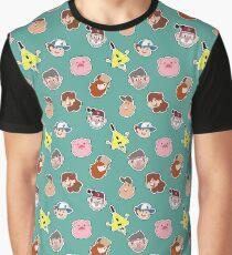 Gravity Falls Chibi Tiles Graphic T-Shirt