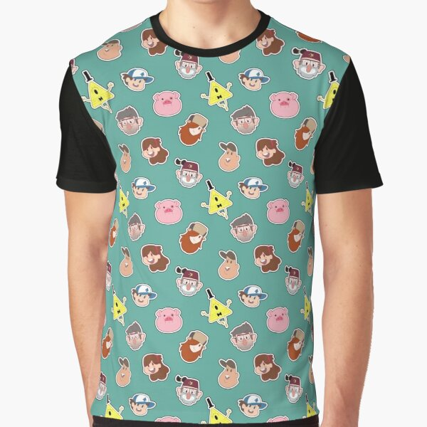 Gravity Falls Chibi Tiles Graphic T-Shirt