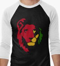 Lion Rasta Reggae Baseballshirt für Männer