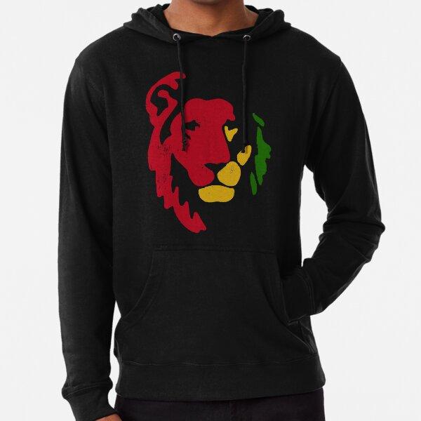 Lion Rasta Reggae Sudadera ligera con capucha