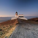 Stoer Lighthouse at Sunset by Maria Gaellman