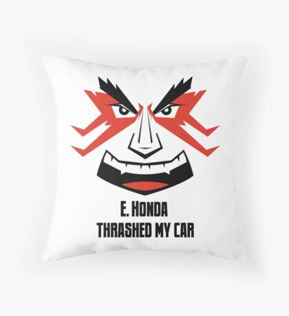 E. HONDA Thrashed My Car Throw Pillow