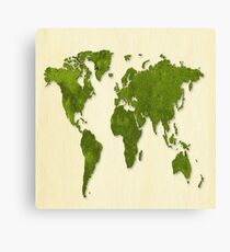 Earth,map,grass,green earth,modern,trendy,contemporary art Canvas Print