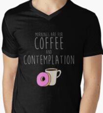 Mornings Are for Coffee and Contemplation Men's V-Neck T-Shirt