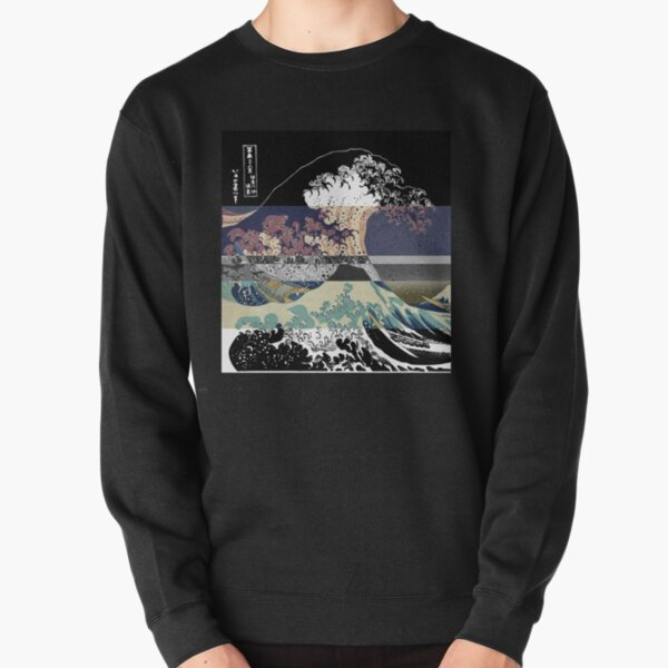 the great wave color glitch  Pullover Sweatshirt
