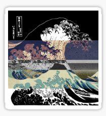 the great wave color glitch  Sticker