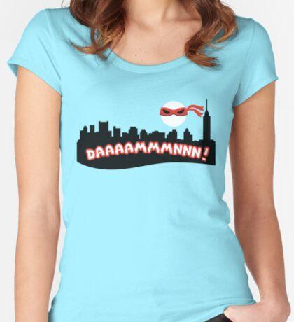 Daaammmnnn!!! Fitted Scoop T-Shirt