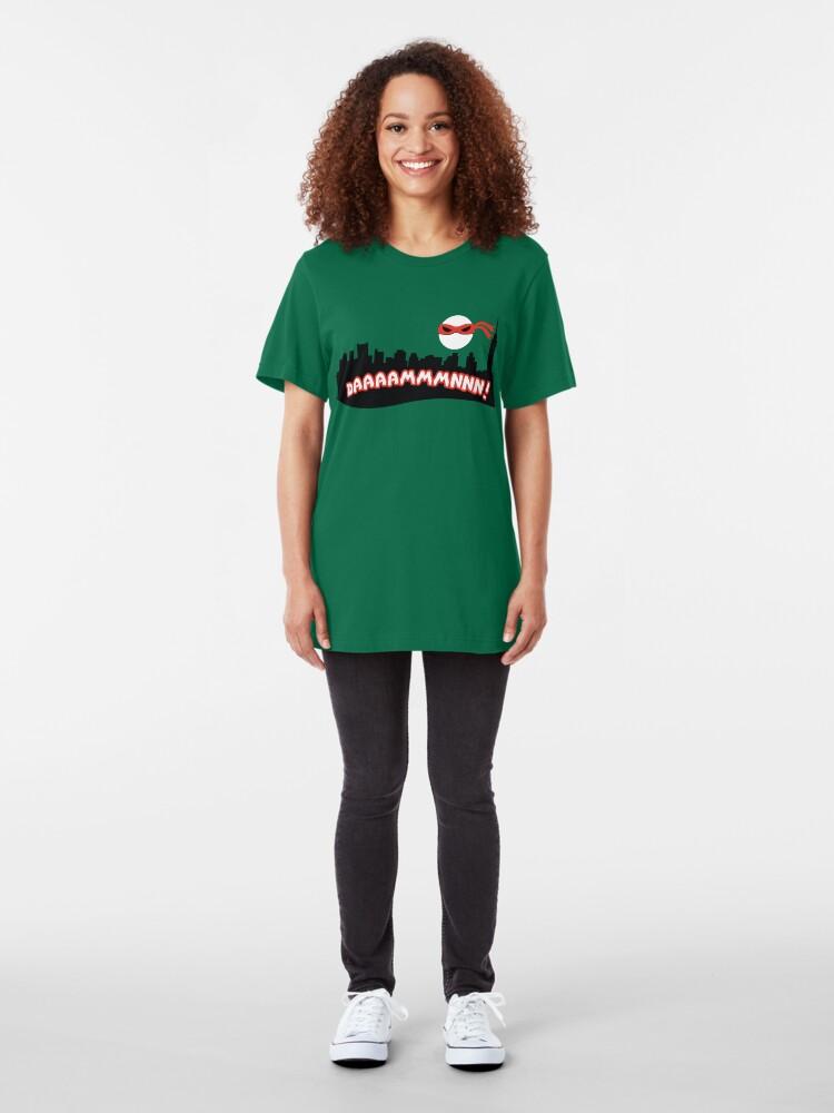 Alternate view of Daaammmnnn!!! Slim Fit T-Shirt