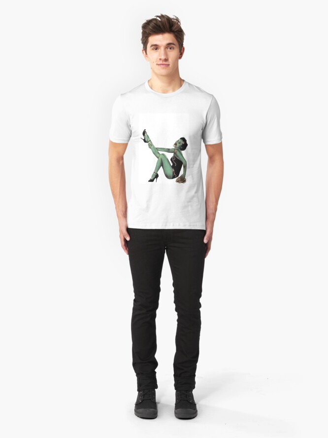 Alternate view of Zombie Chick (by Adam Miller) Slim Fit T-Shirt
