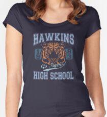 Camiseta entallada de cuello ancho Stranger Things Tee - ¡Van los tigres!