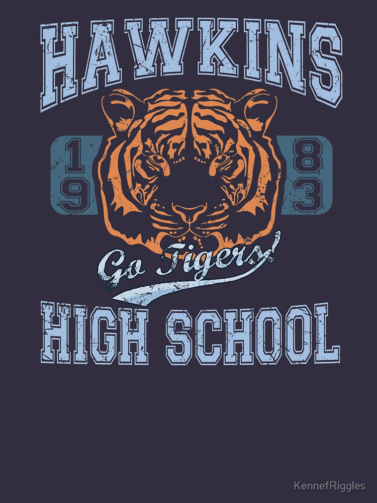 Stranger Things Tee - Go Tigers! by KennefRiggles