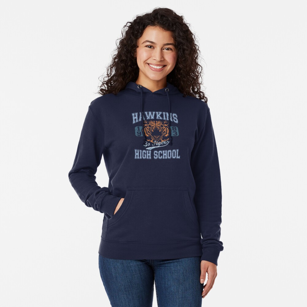 Stranger Things Tee - Go Tigers! Lightweight Hoodie